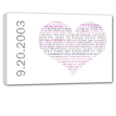 Our Wedding canvas word art pieces are all made to your exact personifications and can be made up of just words or words around or on a picture.