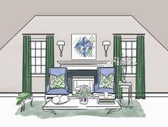 #дизайн #интерьер #декор #шторы #гардины #окно #гостиная #зеленый #панно  #рисунок #ярисую #бродская #художник #design #interior #livingroom #decor #b_design #brodskaya #art #green #pic #picture