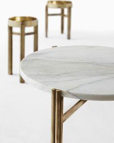 Round brass coffee table TWELVE | Round coffee table - @gallottiradice