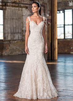 Justin Alexander - 9829   Jaehee Bridal Atelier  #fitandflare #sweetheart #capsleeve #lace #bridal #weddingdress