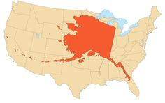 Most maps of the United States focus on the lower 48 at the diminishment or exclusion of Alaska and Hawaii. The map above reverses this trend and puts Alaska centre stage History Class, Us History, American History, World Map Continents, Visit Alaska, Map Globe, Teaching Social Studies, Perspective, Fun Facts