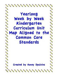 This is a 109 page completed curriculum map aligned to Kindergarten Common Core Standards that is made for KNOX COUNTY SCHOOLS, TENNESSEE or anyone using PEARSON CURRICULUM. Tired of looking at 20 different documents and guidelines to make your common core lesson plans. Look no further! I have created a document that includes it all in a week by week format. This is a yearlong curriculum map that will guide you week by week for the entire Kindergarten school year!