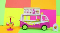 The Shopkins Scoops Ice Cream Truck Review video. kristoff and Elsa take the role of unboxing this fun toy.