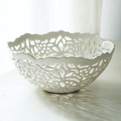 Small Lace Bowl by isabelleabramson on Etsy