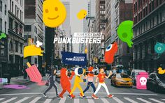 PUNKBUSTERS™ on Behance Graphic Design Posters, Graphic Design Inspiration, Graphic Art, Photography Illustration, Photo Illustration, Poster Layout, Motion Design, Editorial Design, Illustrations Posters