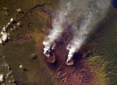 This image captures the smouldering Ambrym volcano, which was seen erupting in the Vanuatu...