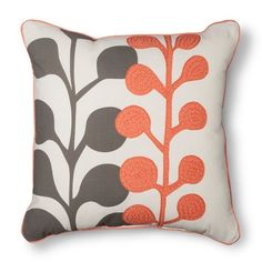 Room Essentials™ Embroidered Floral Toss Pillow