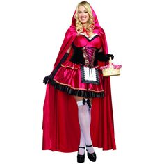 red 2 piece little red riding hood plus sized costume ($73) ❤ liked on Polyvore featuring costumes, red, plus size red riding hood costume, little red riding hood halloween costume, plus size womens costumes, plus size little red riding hood halloween costume and plus size little red riding hood costume