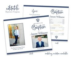 Baby Boy Birth Announcement, Birth Announcement Template, Announcement Cards, Lds Baptism Program, Program Template, Invitation Templates, Boy Baptism, Baptism Invitations, Candy Gifts