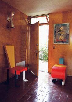 Peter Shire's Hallway in his Modernist LA home: WOI Dec 2011
