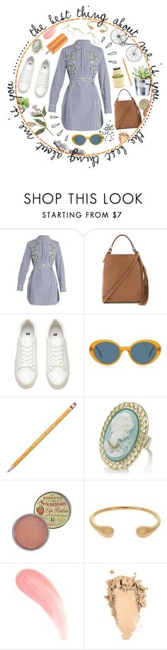 """""""Pinstripes"""" by karla-jhoana ❤ liked on Polyvore featuring ADAM, AllSaints, Old Navy, Oliver Peoples, Paper Mate, Monsoon, Lauren Ralph Lauren, CO, Rosebud Perfume Co. and Dinosaur Designs"""