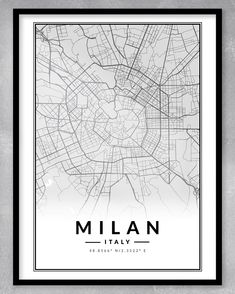 This contemporary and minimalistic map print (A3) is perfect for the home or office, or even as a gift! As this is an instant download, you will be purchasing exactly what you see. We can also create custom maps of any place in the world. Just send us a message!  DIGITAL DOWNLOAD ONLY (NO PRINT OR FRAME INCLUDED) - WE WILL MESSAGE YOU WITH YOUR DOWNLOADABLE FILE WHEN IT IS READY. Milan Map, Milan City, City Poster, Personalized Engagement Gifts, One Year Anniversary Gifts, Gsm Paper, Custom Map, Couple Gifts, A3