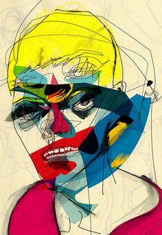 By alvaro tapia hidalgo interesting perspective Illustrations, Illustration Art, A Level Art, Abstract Portrait, Art Graphique, Outsider Art, Face Art, Figure Drawing, Apocalypse