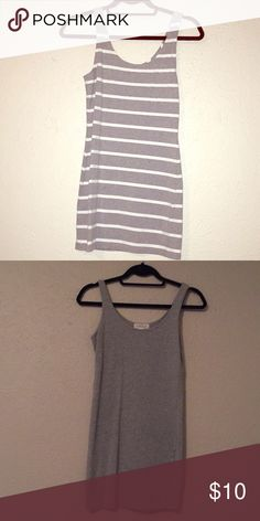 ⭐️BUNDLE⭐️Forever 21 Dresses Sold as a set- One solid grey, one white and grey stripes. Both body-con/form fitting mini dresses  🚫Price is firm unless bundled Forever 21 Dresses Mini