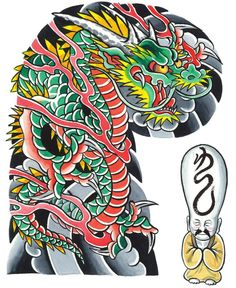 from Garyou Tensei. 108 Japanese tattoo sleeve designs by Yushi 'Horikichi' Takei Japanese Tattoos For Men, Japanese Dragon Tattoos, Traditional Japanese Tattoos, Japanese Tattoo Art, Japanese Tattoo Designs, Japanese Sleeve Tattoos, Japan Tattoo Design, Brust Tattoo, Dibujos Tattoo