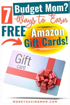Want to earn FREE Amazon gift cards? Check out this list of great ideas! #earnmoney #savemoney #budgeting #freegiftcards #budgetmom Save Money On Groceries, Ways To Save Money, How To Make Money, Gift Cards Money, Free Gift Cards, Living On A Budget, Frugal Living Tips, Money Saving Mom, Make Money Blogging