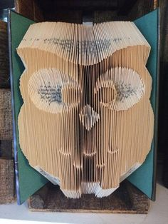 Book Folding Pattern for a Cute Owl  Free by BookFoldingForever
