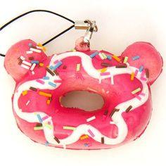 pink Rilakkuma donut squishy cellphone charm kawaii 1