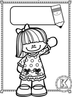 Toddler Preschool, Preschool Activities, Colouring Pages, Coloring Books, Frame Layout, School Frame, School Clipart, Kids Pages, Borders And Frames