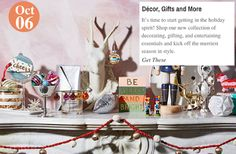 Holiday is Here! Décor, Gifts and More: www.teelieturner.com #decor