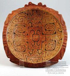 Bol cérémoniel en céramique,  Ile de Marajó, Brésil 400 à 1400 A.D.