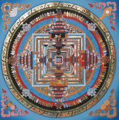 Kalachakra Mandala Thangka Art Master Piece Real 24K Gold Guaranteed Best Price