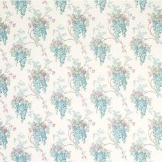 Wisteria Duck Egg/Pistachio Floral Fabric #lauraashleyhome