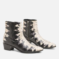 The Palo Alto Bootie is made w/ an all-leather upper, all-leather heel & sole and an inside zipper for access. Sole Water, New Shoes, Best Sellers, Cowboy Boots, Patent Leather, Booty, Black And White, Heels, Scorpio