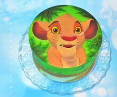 Simba-The Lion King. Airbrush painting cake. - Cake by LenkaSweetDreams