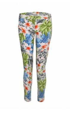 These stunning striking skinny ankle cropped cotton-mix trousers from London based brand Pyrus are the perfect way to update your wardrobe this SS14. Inspired by the Wakiki beach in Honolulu, the bold Rose Trouser in a tropical flower print in blues, greens and oranges is a beautiful eye-catching design. http://www.donnaida.com/denim/non-denim/pyrus-rose-trouser-wakiki.html #pyrus #trouser #flower #print #ss14 #donnaida #designer