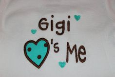 Gigi loves me tshirt or onesie applique boy or by stephstowell, $20.00