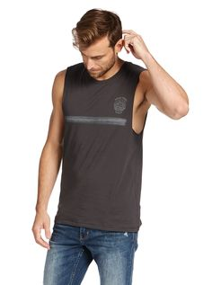 Image for Rising Sun Muscle Print Tee from Just Jeans