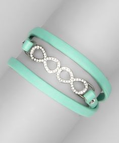 Take a look at this Mint Rhinestone Infinity Bracelet on zulily today!