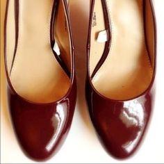 Maroon Heels  Shiny Maroon high heels. Never used. Super comfortable. Merona Shoes Heels