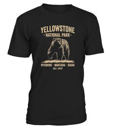 Celebrate Yellowstone National Park Brown Grizzly Bears with this iconic image of a Brown Grizzly bear T-Shirt. Yellowstone's bears roam free for all to see. This is the perfect brown grizzly bear t-shirt for Men Women Boys Girls Kids of all ages.   Be sure to SIZE UP WHEN ORDERING your 'Yellowstone National Park Brown Grizzly Bear T-Shirt' for for Men Women Boys Girls Kids a more loose fit. Brown Grizzly bear shirt is printed in USA.