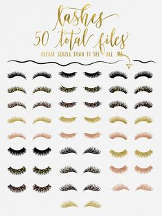 This is a gorgeous collection of digital lashes in blacks, golds, rose gold & confetti!! These designs are perfect for designing logos for lash experts & makeup-artists as well as just fun beauty projects! The designs are Ok for personal use (your own personal logo or website/branding use is OK) for commercial use please purchase our commercial use license, read below for more info. - - - - - - - - - - - - - - - - - - - - - - - - - - - - Includes: 50 eyelash files as shown PNG file format...