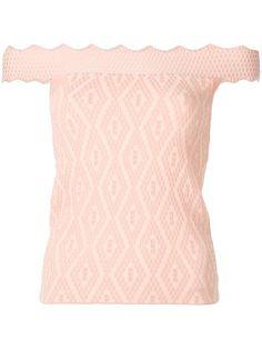 JONATHAN SIMKHAI off-shoulders fitted blouse. #jonathansimkhai #cloth #blouse