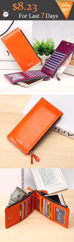 US$8.23 For Last 7 Days+Free shipping. Women's Wallet, Phone Wallets, Card Holder, Coin Bags, Long Purse. Waxy, Ultrathin, Leather, Color:Black, Blue,Coffee, Brown, Red, Green, Orange, Rose Red.