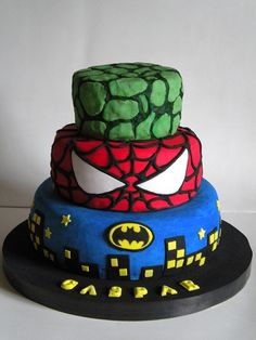 Torta Super Heroes   La torta original es de LilaLoa, aqui e…   Flickr