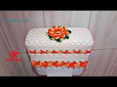 Tampa do Vaso - Jogo de Banheiro Flor Laranja Premium 1/2 - YouTube