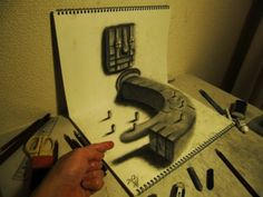 Some people draw these using the help from perspective and shadows.