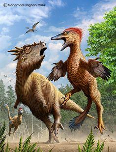 Pectinodon bakkeri VS Stygimoloch by haghani.deviantart.com on @DeviantArt