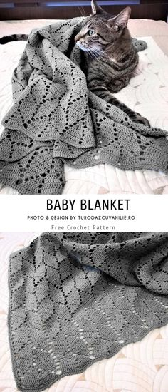Baby Blanket Crochet Pattern Free is part of Fall crafts Free Crochet - Hi, dears Today we show you specific style blanket I came across a pretty pattern which l think you would like Crochet baby blanket with the symmetrical Baby Knitting Patterns, Crochet Baby Blanket Free Pattern, Crochet Baby Blanket Beginner, Baby Patterns, Crotchet Baby Blanket, Pattern Sewing, Knitting Stitches, Crochet Afghans, Crochet Diy