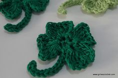 This is a free crochet pattern for Crochet 4 Leaf Clover that you may use as embellishment on St. Patrick's Day or in any occasion you want.