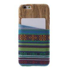 Javu - iPhone 6 Hoesje - Back Case Hard Tribal Canvas en Houtprint Groen   Shop4Hoesjes