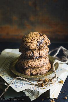 Orkiszowe ciasteczka z czekoladą low FODMAP Low Fodmap, Low Carb, I Foods, Food Photography, Cookies, Chocolate, Desserts, Recipes, Fotografia