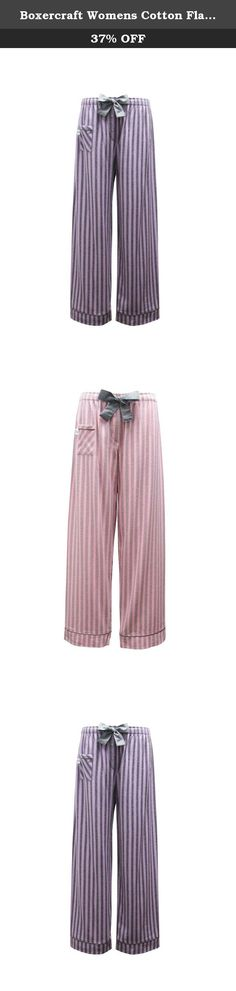 Boxercraft Womens Cotton Flannel Striped Sleep Pants, 2XL (19), Purple and Grey Striped Fantasy. Boxercraft is America's leading supplier of quality Spirit Wear and comfortable fashions.