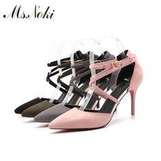 Promo Ms Noki Summer women pumps Shoes Fashion cross tied summer shoes woman heels women sandals office. Click visit to read descriptions