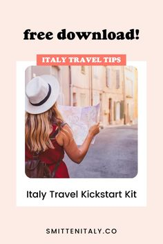 Our free Italy travel planning starter kit is the first step to planning and taking your amazing trip! What's inside? 1) Our Italy wish list & mad-libs to help pinpoint what you want to experience while on your trip. 2) Our own timeline cheat sheet, telling you just what to book and when. 3) A Checklist so you don't forget a thing as you start to plan. 4) Detailed trusted resources for Italy to help you plan and book with confidence!