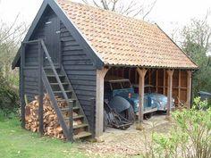 Diligent stressed awesome shed building Shop today Carport Sheds, Garage Shed, Pool Shed, Backyard Sheds, Carport Designs, Garage Design, Timber Frame Garage, Tiny House, Oak Framed Buildings